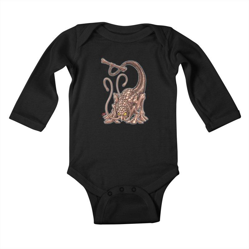 RUST NEVER SLEEPS Kids Baby Longsleeve Bodysuit by artofcoop's Artist Shop