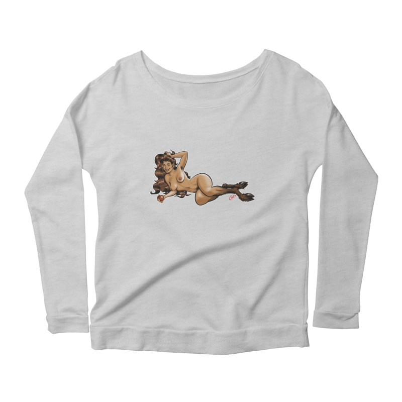 FAUN HAUL Women's Scoop Neck Longsleeve T-Shirt by The Art of Coop
