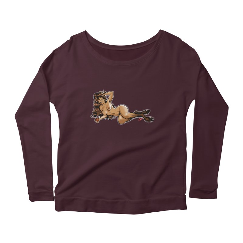 FAUN HAUL Women's Scoop Neck Longsleeve T-Shirt by The Art of Coop
