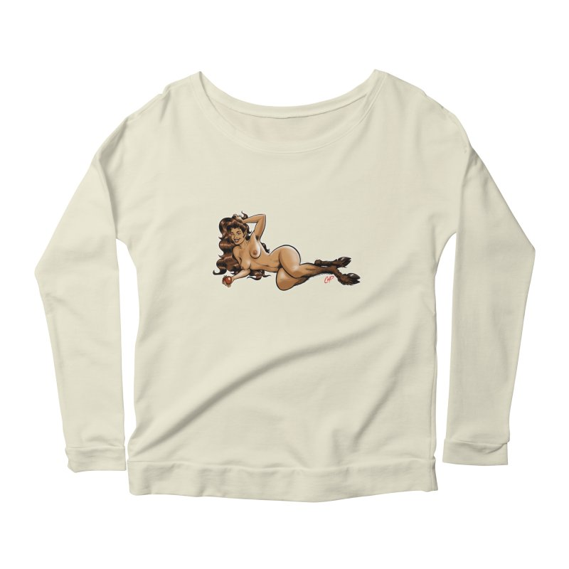 FAUN HAUL Women's Scoop Neck Longsleeve T-Shirt by artofcoop's Artist Shop