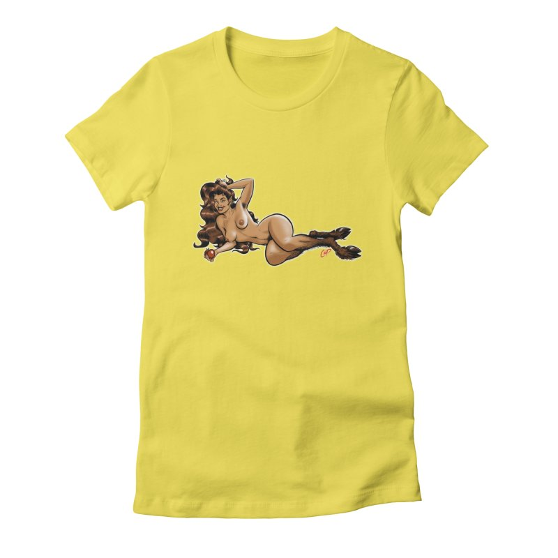 FAUN HAUL Women's Fitted T-Shirt by The Art of Coop