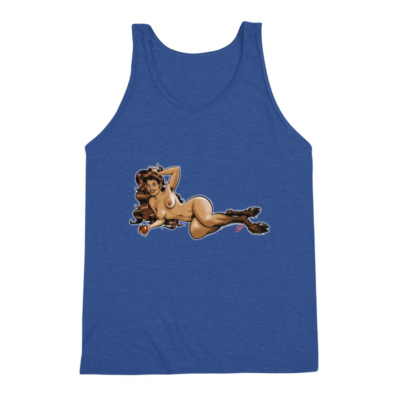 FAUN HAUL Men's Triblend Tank by The Art of Coop