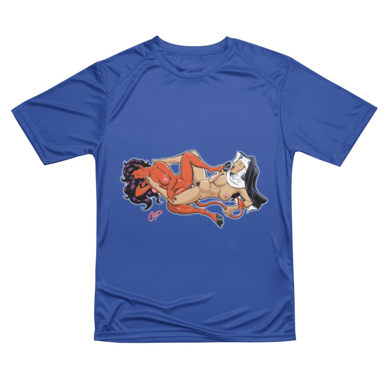 HEAVEN AND HELL Men's Performance T-Shirt by The Art of Coop