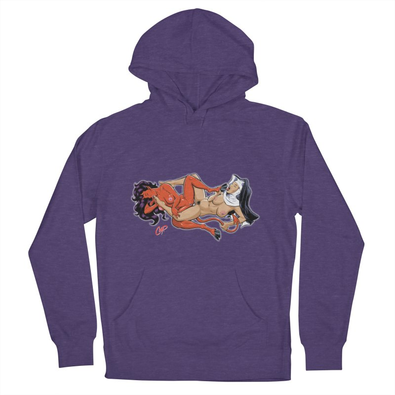 HEAVEN AND HELL Women's French Terry Pullover Hoody by The Art of Coop