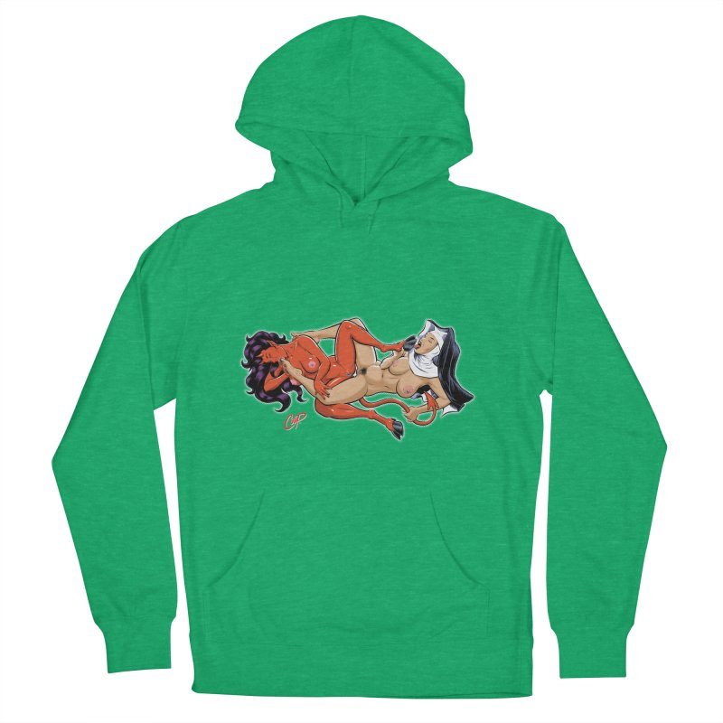 HEAVEN AND HELL Men's French Terry Pullover Hoody by The Art of Coop