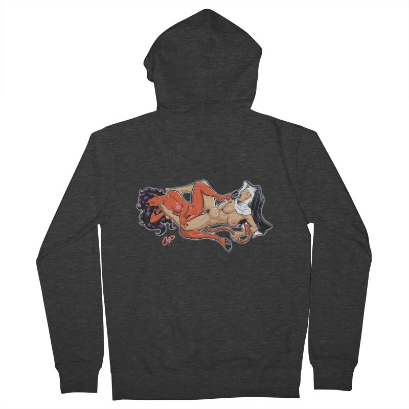 HEAVEN AND HELL Women's Zip-Up Hoody by The Art of Coop