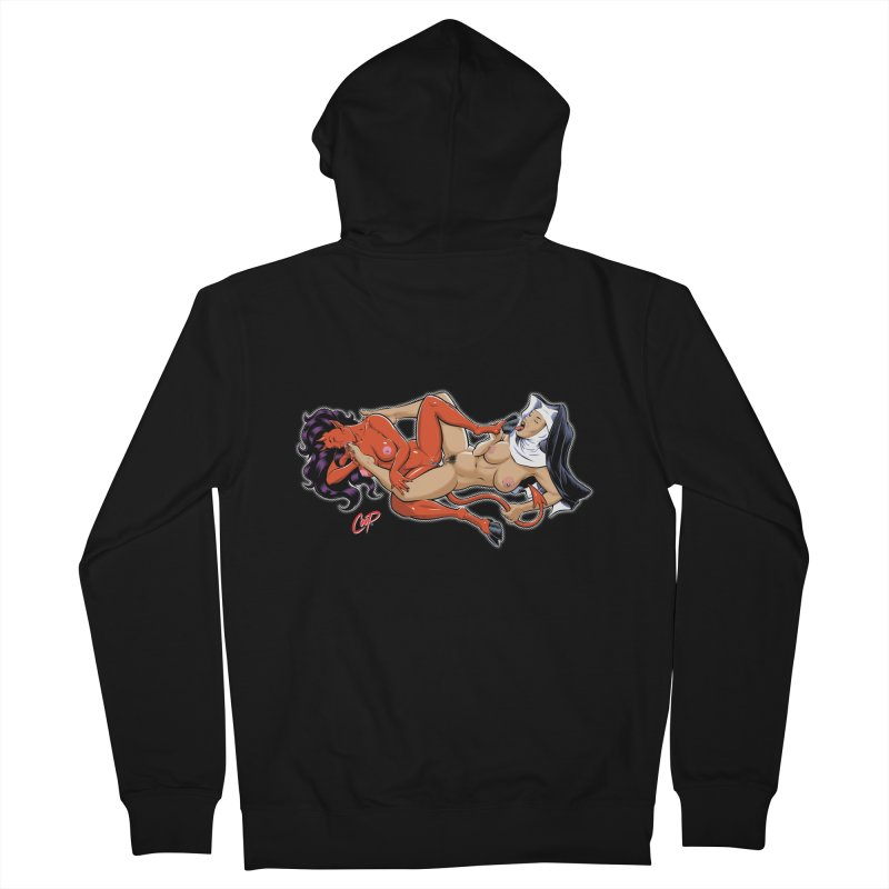 HEAVEN AND HELL Women's French Terry Zip-Up Hoody by The Art of Coop