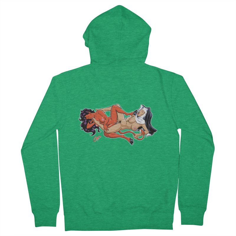 HEAVEN AND HELL Men's French Terry Zip-Up Hoody by The Art of Coop