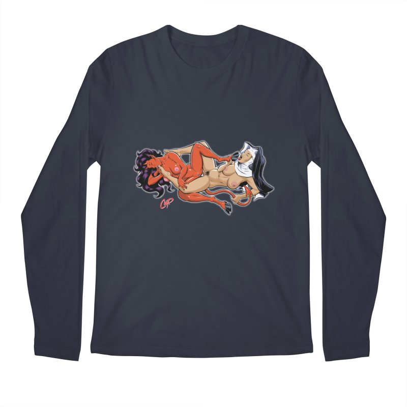 HEAVEN AND HELL Men's Regular Longsleeve T-Shirt by The Art of Coop