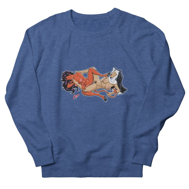 HEAVEN AND HELL Men's French Terry Sweatshirt by The Art of Coop