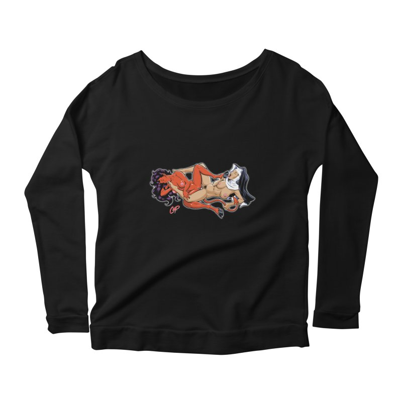 HEAVEN AND HELL Women's Scoop Neck Longsleeve T-Shirt by The Art of Coop