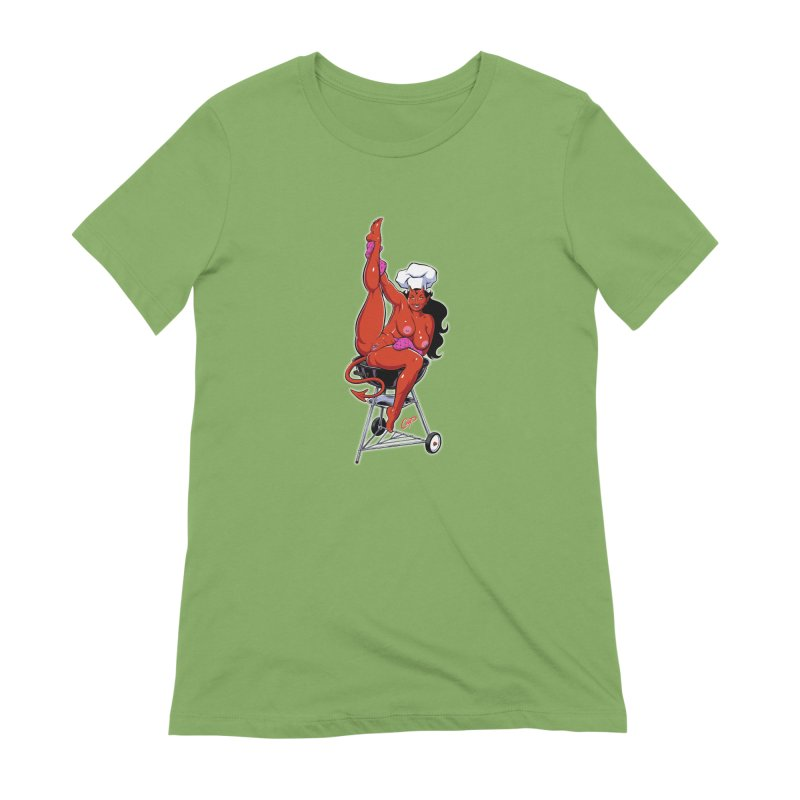 EAT OUT MORE OFTEN Women's Extra Soft T-Shirt by The Art of Coop