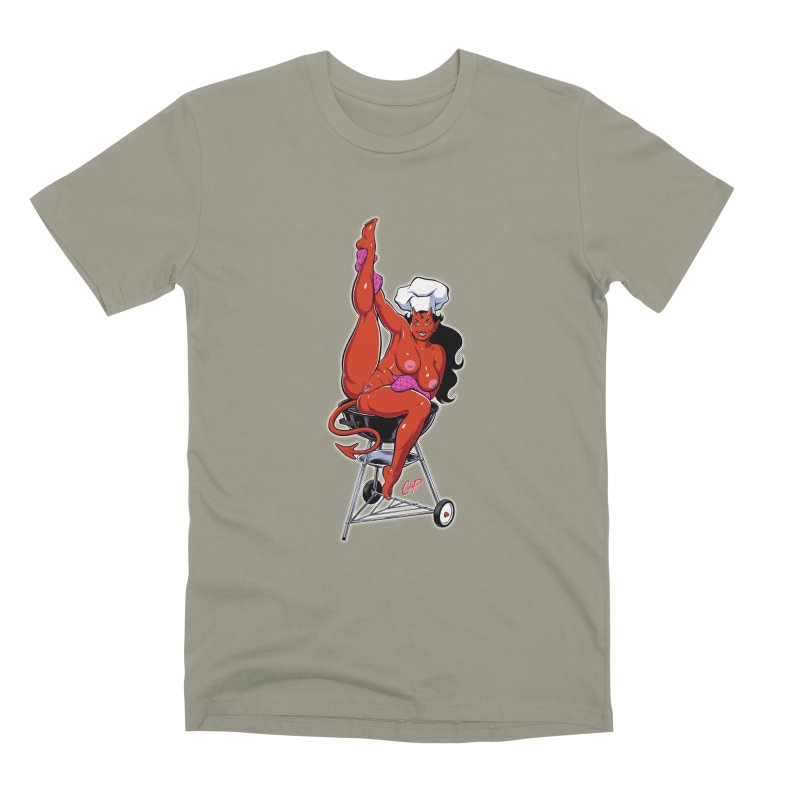 EAT OUT MORE OFTEN Men's Premium T-Shirt by The Art of Coop