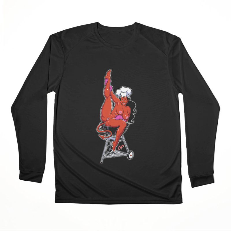 EAT OUT MORE OFTEN Men's Performance Longsleeve T-Shirt by The Art of Coop