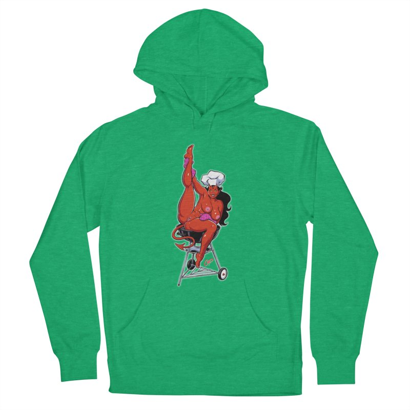 EAT OUT MORE OFTEN Women's French Terry Pullover Hoody by The Art of Coop