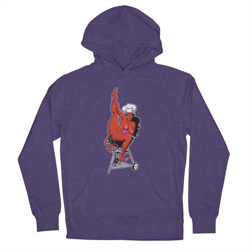 EAT OUT MORE OFTEN Men's French Terry Pullover Hoody by The Art of Coop