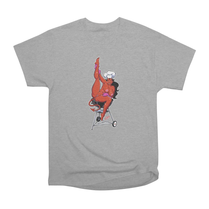 EAT OUT MORE OFTEN Women's Heavyweight Unisex T-Shirt by The Art of Coop