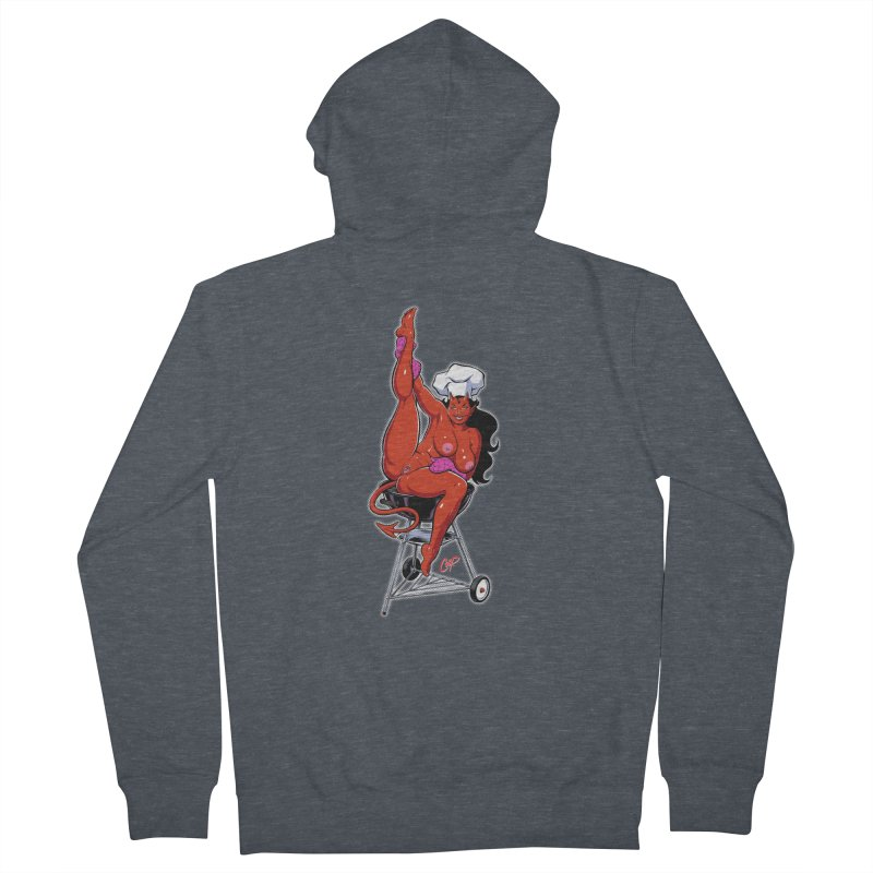 EAT OUT MORE OFTEN Men's French Terry Zip-Up Hoody by The Art of Coop