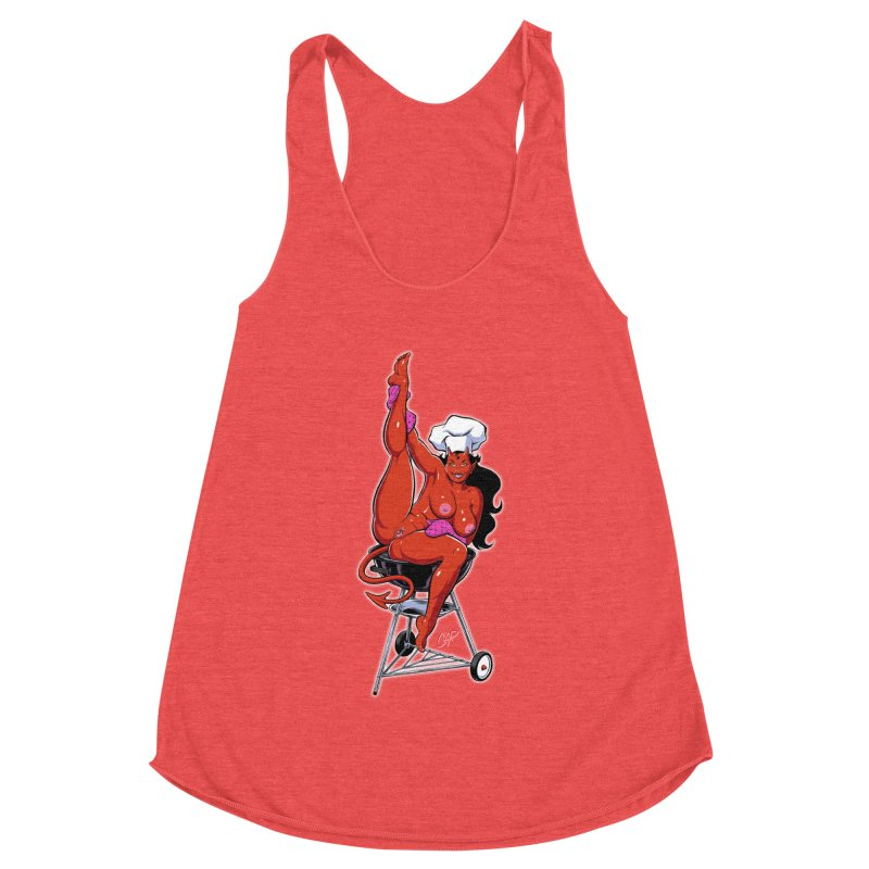 EAT OUT MORE OFTEN Women's Racerback Triblend Tank by The Art of Coop