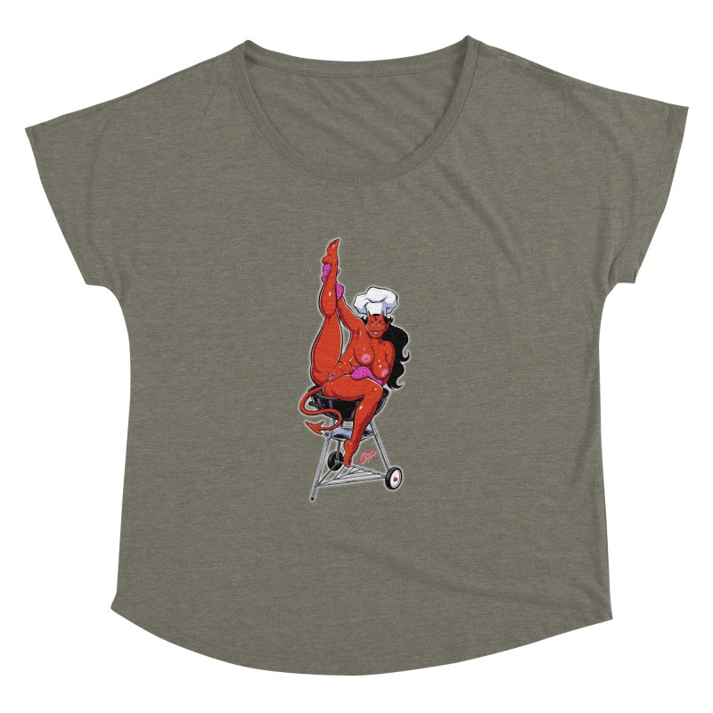EAT OUT MORE OFTEN Women's Dolman Scoop Neck by The Art of Coop