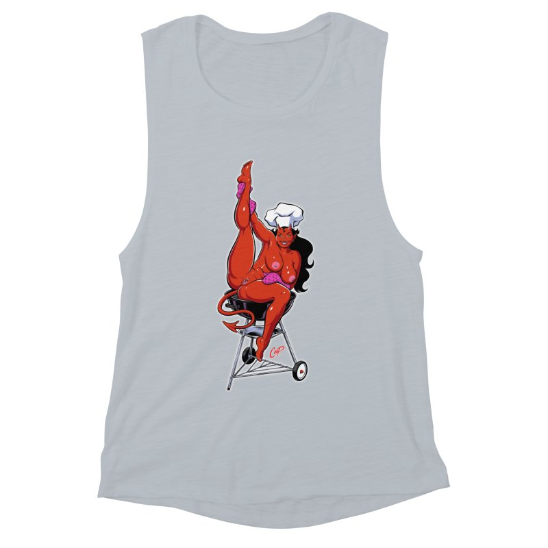 EAT OUT MORE OFTEN Women's Muscle Tank by The Art of Coop