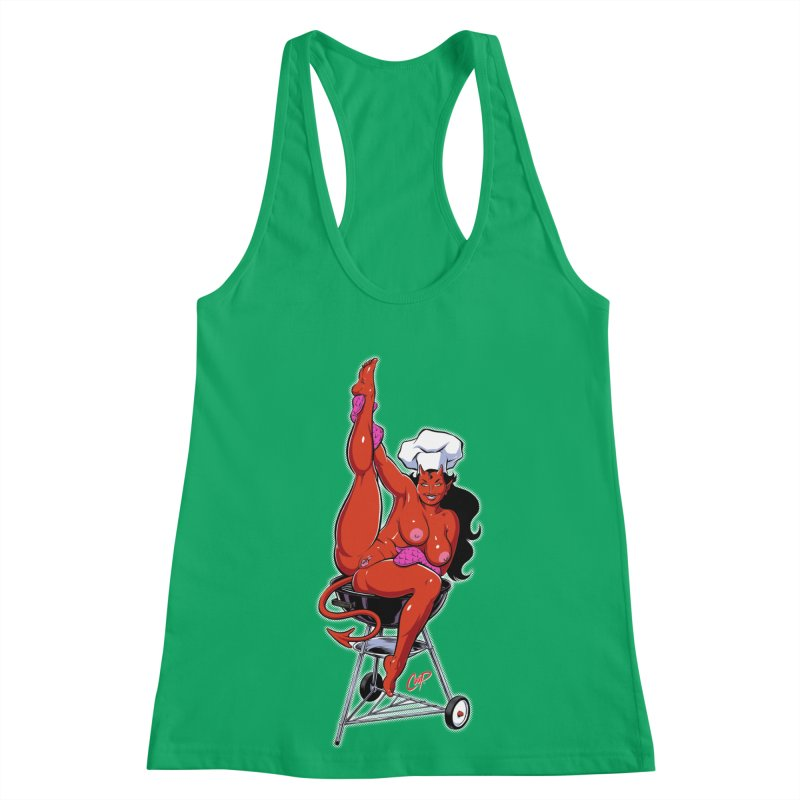 EAT OUT MORE OFTEN Women's Racerback Tank by The Art of Coop