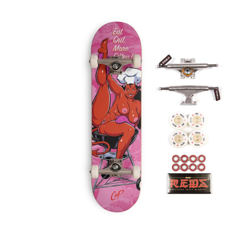 EAT OUT MORE OFTEN Accessories Complete - Pro Skateboard by The Art of Coop