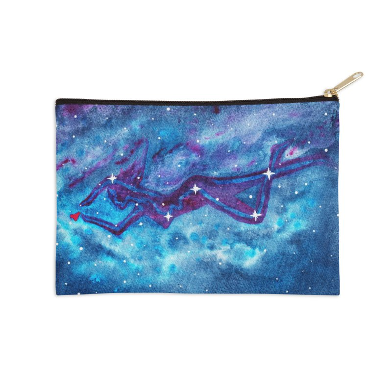 Cassiopeia Reaching for Heart Nebula in Zip Pouch by shop art of josh
