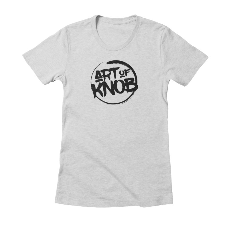 Art of Knob Logo Women's Fitted T-Shirt by Art of Knob - Shop