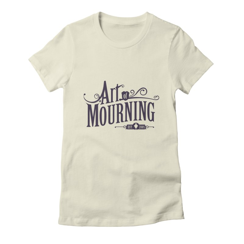 Art of Mourning in Women's Fitted T-Shirt Natural by The Art of Mourning Shop