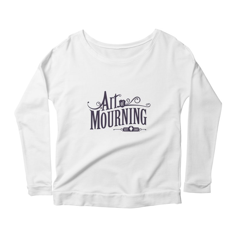 Art of Mourning Women's Scoop Neck Longsleeve T-Shirt by The Art of Mourning Shop