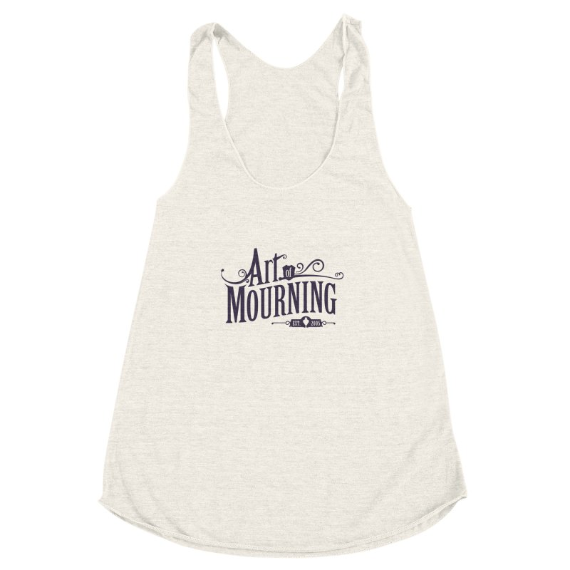 Art of Mourning Women's Racerback Triblend Tank by The Art of Mourning Shop