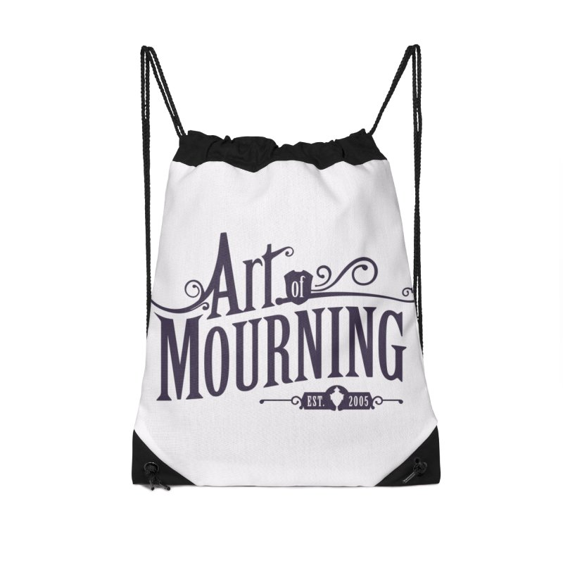 Art of Mourning Accessories Drawstring Bag Bag by The Art of Mourning Shop