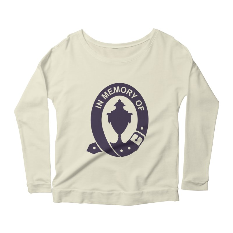 Art of Mourning 'In Memory Of' Women's Scoop Neck Longsleeve T-Shirt by The Art of Mourning Shop