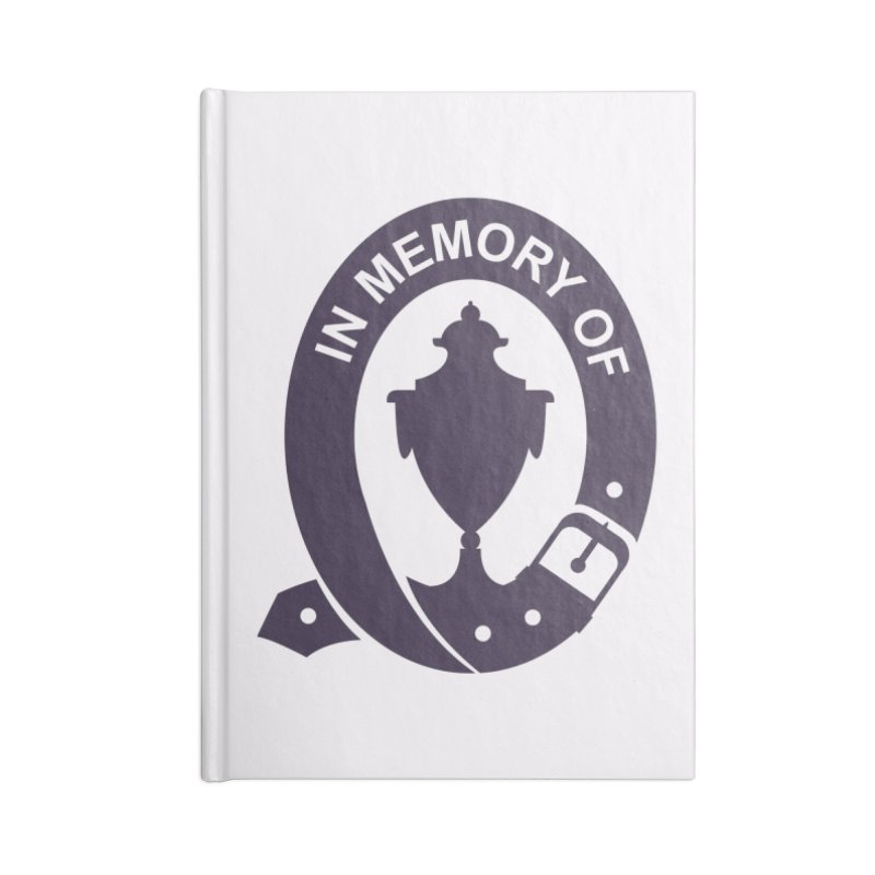 Art of Mourning 'In Memory Of' Accessories Blank Journal Notebook by The Art of Mourning Shop