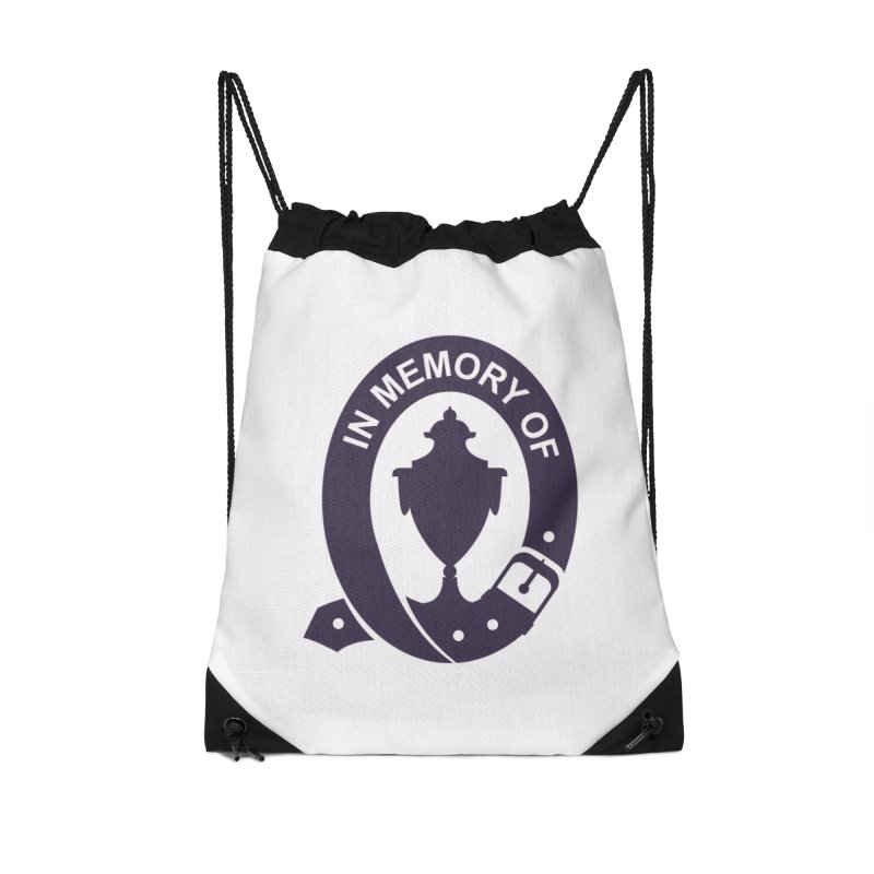 Art of Mourning 'In Memory Of' Accessories Drawstring Bag Bag by The Art of Mourning Shop