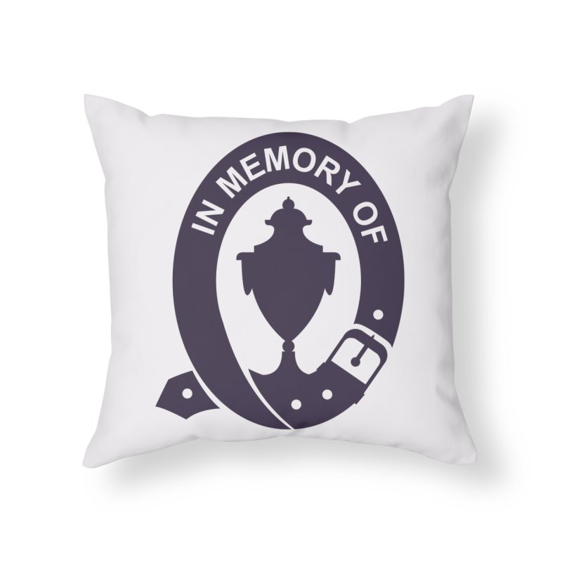 Art of Mourning 'In Memory Of' Home Throw Pillow by The Art of Mourning Shop