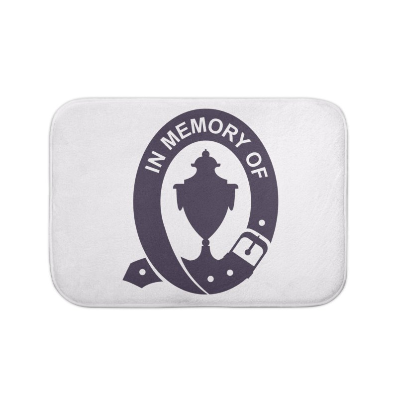 Art of Mourning 'In Memory Of' Home Bath Mat by The Art of Mourning Shop