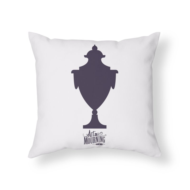 Art of Mourning 'Urn' Home Throw Pillow by Art of Mourning Warehouse