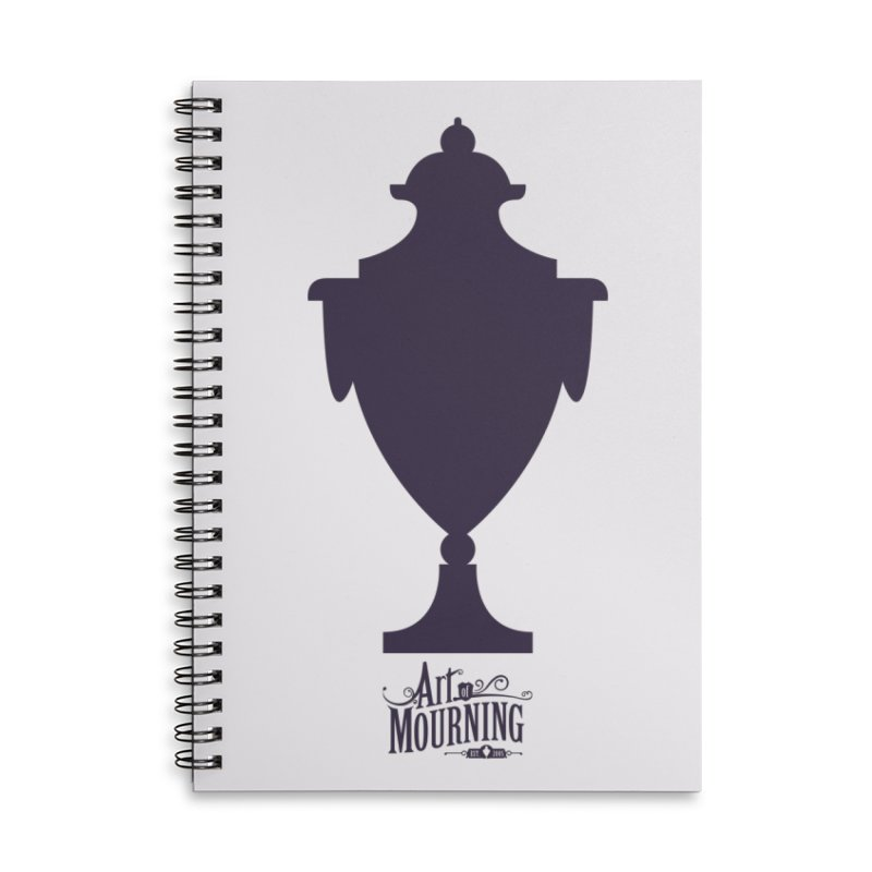 Art of Mourning 'Urn' Accessories Lined Spiral Notebook by The Art of Mourning Shop