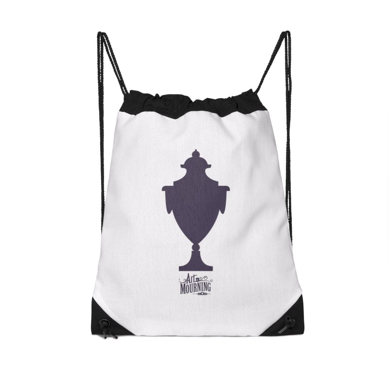 Art of Mourning 'Urn' Accessories Drawstring Bag Bag by The Art of Mourning Shop
