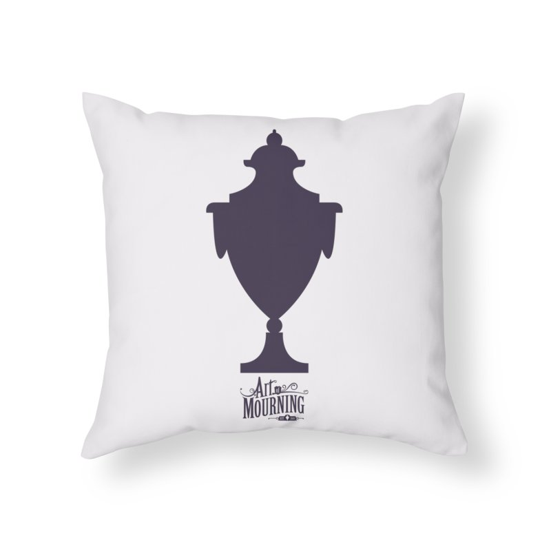 Art of Mourning 'Urn' Home Throw Pillow by The Art of Mourning Shop