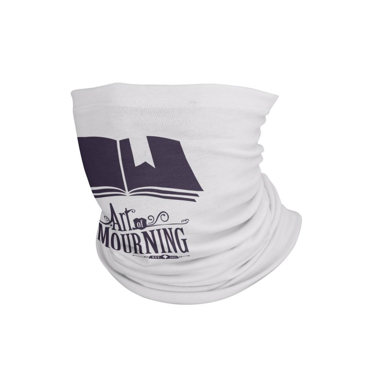 Art of Mourning 'Knowledge' Accessories Neck Gaiter by Art of Mourning Warehouse