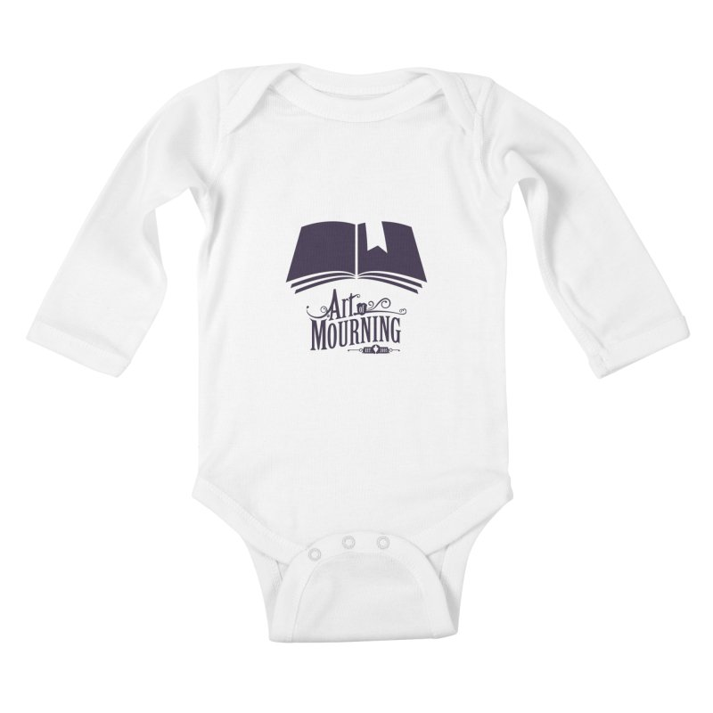 Art of Mourning 'Knowledge' Kids Baby Longsleeve Bodysuit by The Art of Mourning Shop