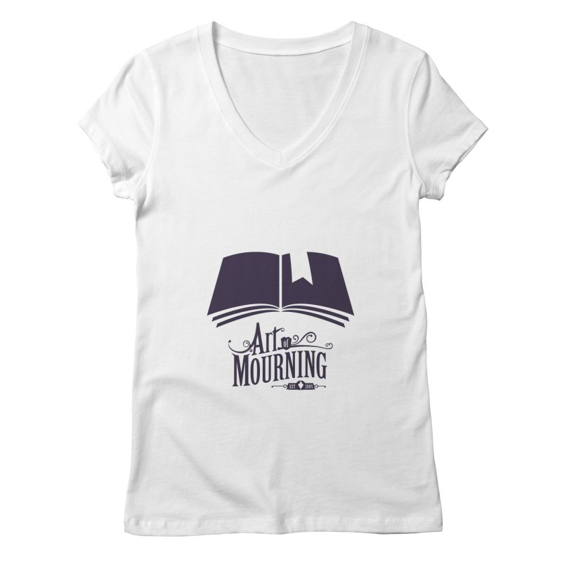 Art of Mourning 'Knowledge' Women's V-Neck by Art of Mourning Warehouse