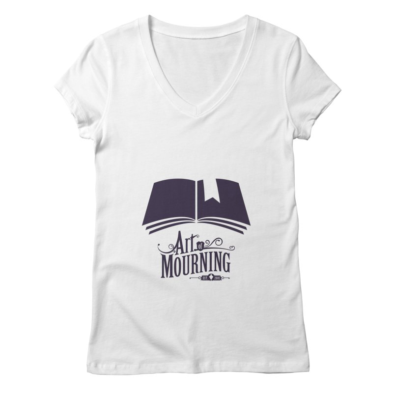Art of Mourning 'Knowledge' Women's Regular V-Neck by The Art of Mourning Shop
