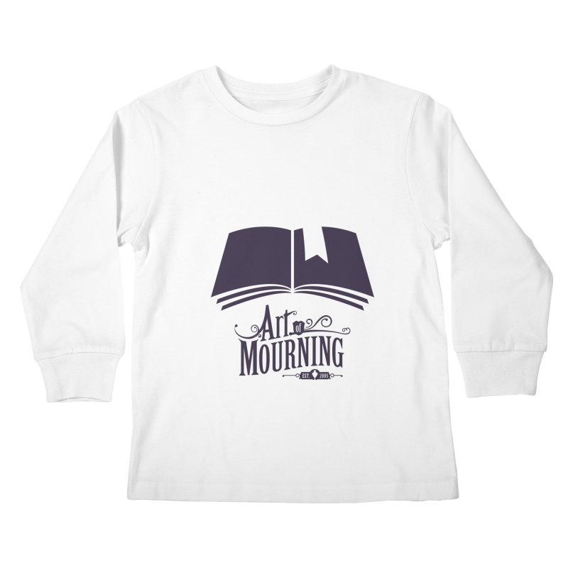 Art of Mourning 'Knowledge' Kids Longsleeve T-Shirt by The Art of Mourning Shop