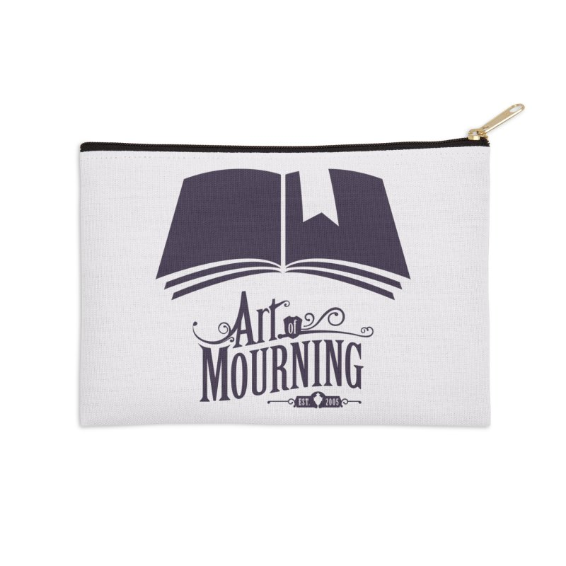 Art of Mourning 'Knowledge' Accessories Zip Pouch by The Art of Mourning Shop