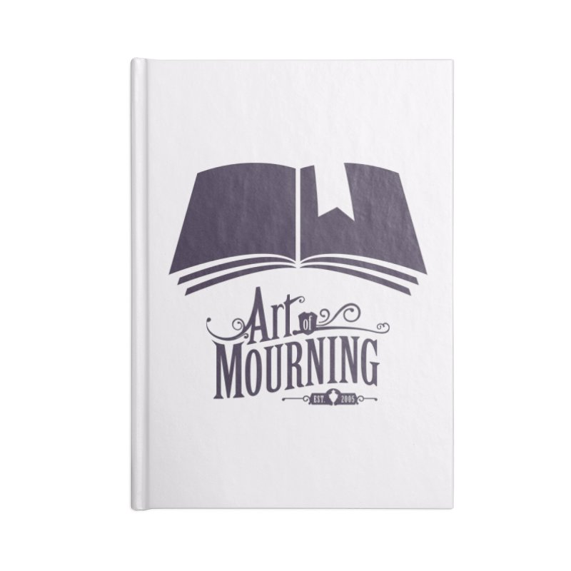 Art of Mourning 'Knowledge' Accessories Blank Journal Notebook by The Art of Mourning Shop
