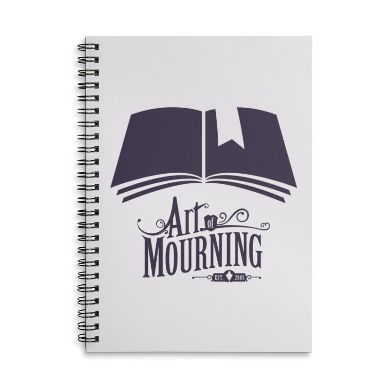Art of Mourning 'Knowledge' Accessories Lined Spiral Notebook by The Art of Mourning Shop